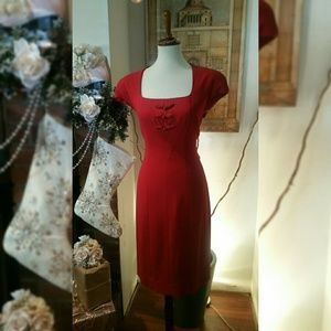 Talbots red dress LIKE NEW